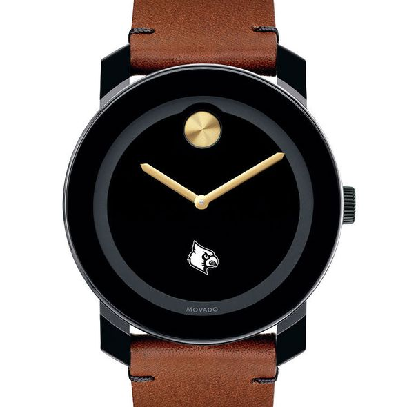 University of Louisville Men's Movado BOLD with Brown Leather Strap - Image 1
