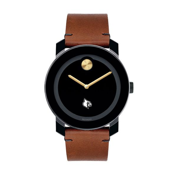 University of Louisville Men's Movado BOLD with Brown Leather Strap - Image 2