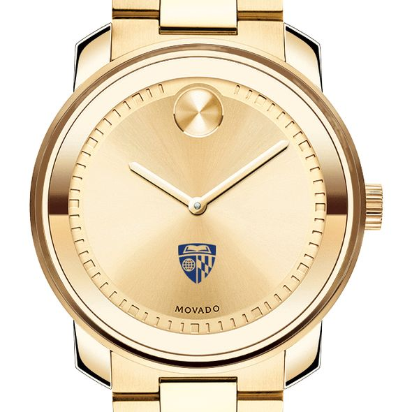 Johns Hopkins University Men's Movado Gold Bold