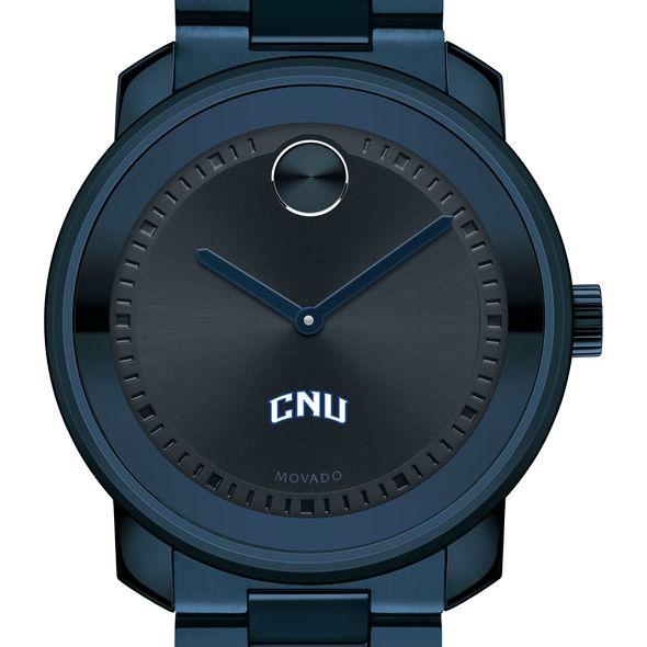 Christopher Newport University Men's Movado BOLD Blue Ion with Bracelet