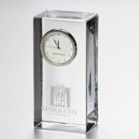 Marquette Tall Class Desk Clock by Simon Pearce