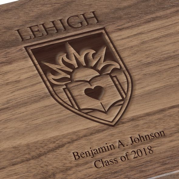 Lehigh University Solid Walnut Desk Box - Image 3