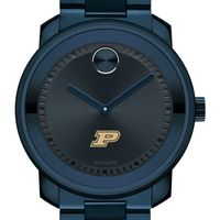 Purdue University Men's Movado BOLD Blue Ion with Bracelet