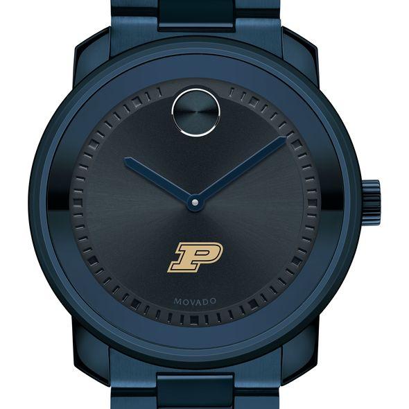 Purdue University Men's Movado BOLD Blue Ion with Bracelet
