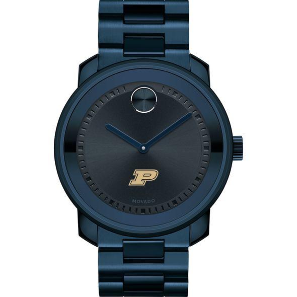 Purdue University Men's Movado BOLD Blue Ion with Bracelet - Image 2