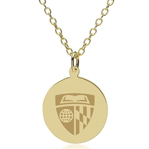 Johns Hopkins 14K Gold Pendant & Chain