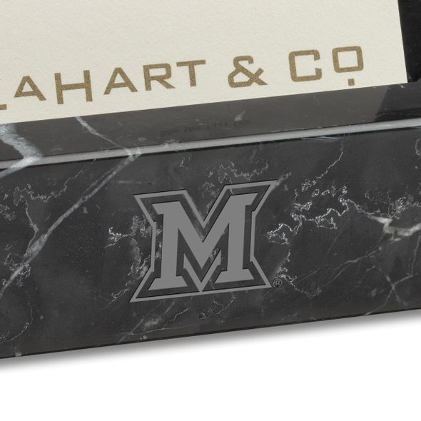 Miami University Marble Business Card Holder - Image 2