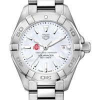 Ohio State Women's TAG Heuer Steel Aquaracer w MOP Dial