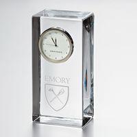Emory Tall Desk Clock by Simon Pearce