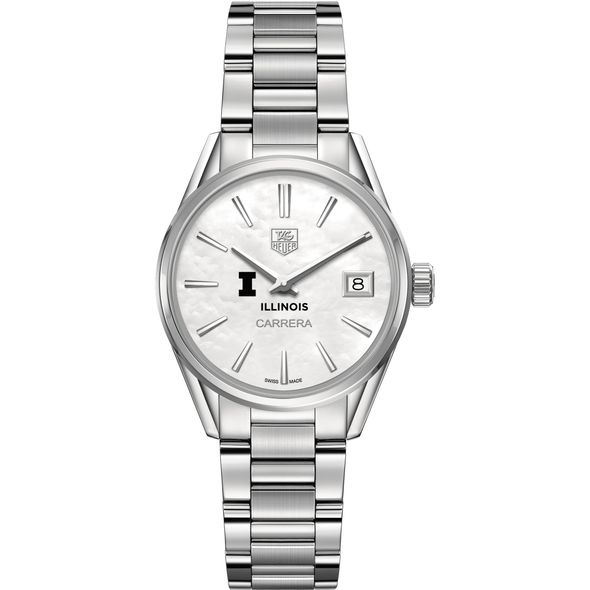 University of Illinois Women's TAG Heuer Steel Carrera with MOP Dial - Image 2