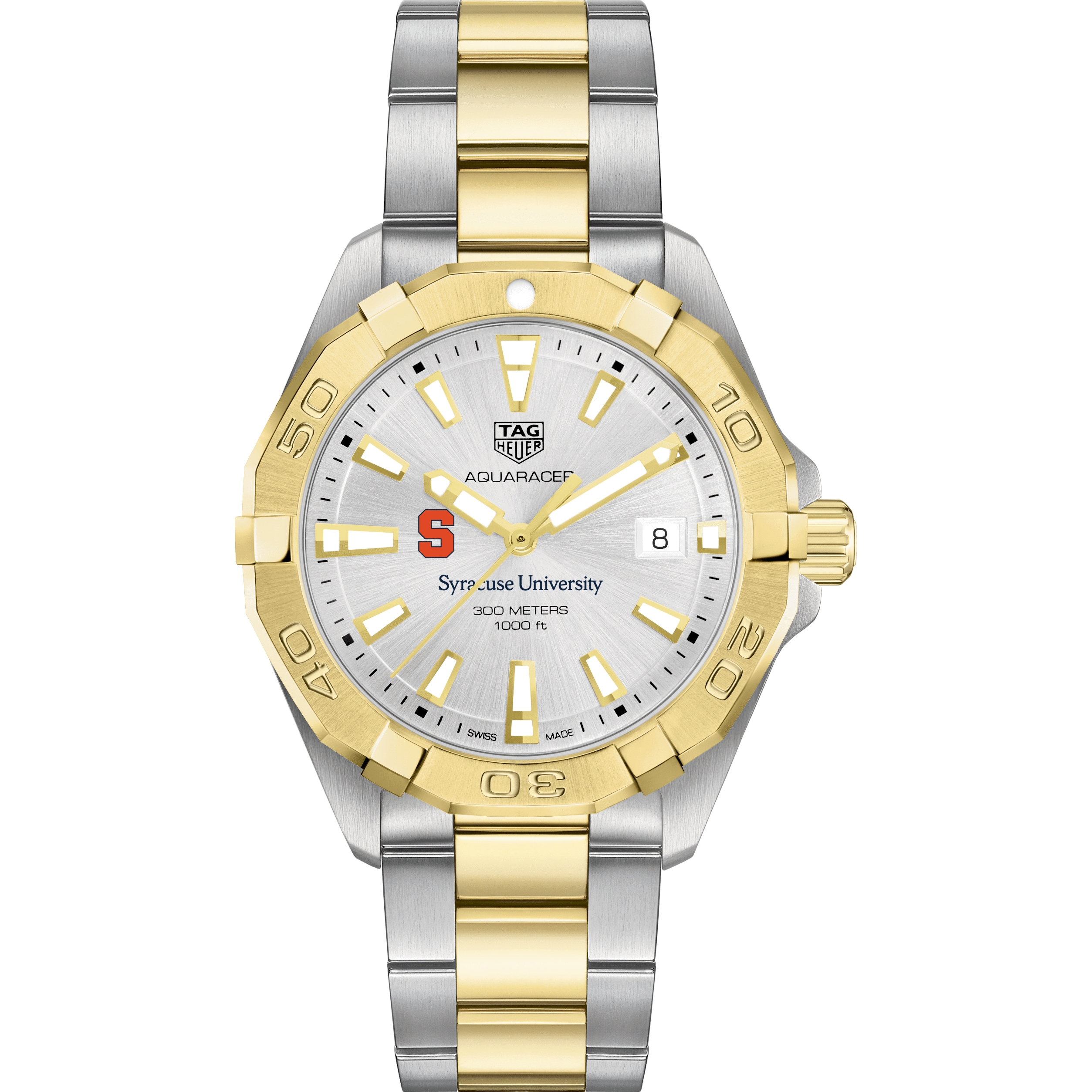 Syracuse University Men's TAG Heuer Two-Tone Aquaracer - Image 2