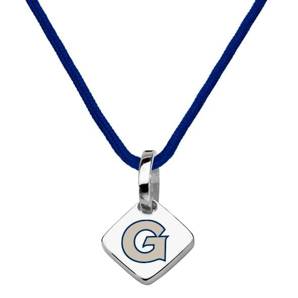 Georgetown University Silk Necklace with Charm