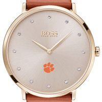 Clemson Women's BOSS Champagne with Leather from M.LaHart