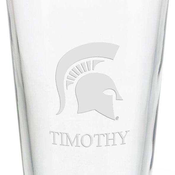 Michigan State University 16 oz Pint Glass - Image 3
