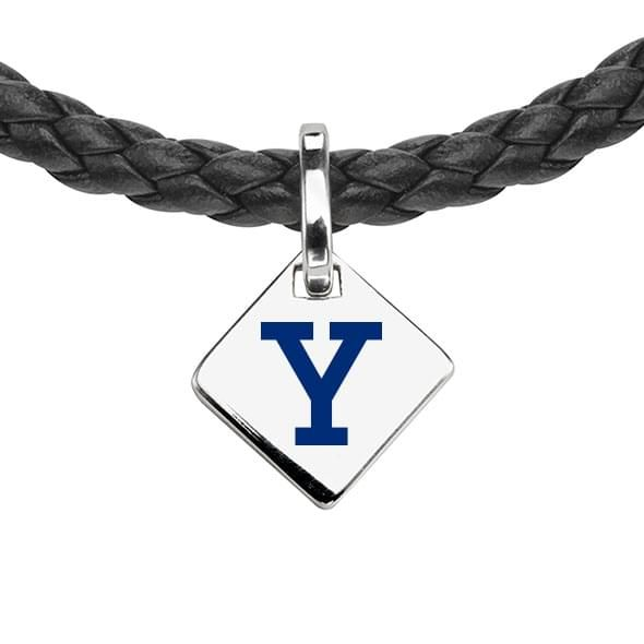 Yale Leather Necklace with Sterling Silver Tag - Image 2