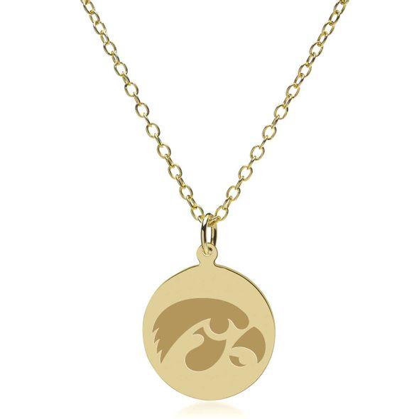 University of Iowa 14K Gold Pendant & Chain