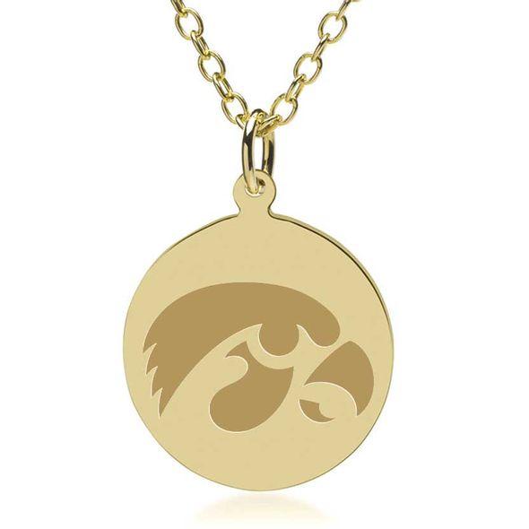 University of Iowa 14K Gold Pendant & Chain - Image 2