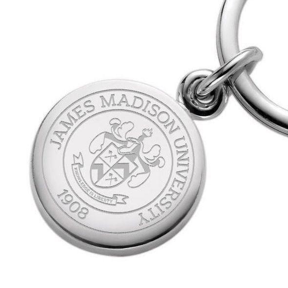 James Madison Sterling Silver Insignia Key Ring - Image 2