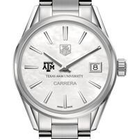 Texas A&M University Women's TAG Heuer Steel Carrera with MOP Dial