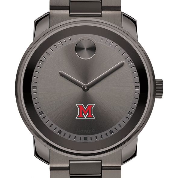 Miami University Men's Movado BOLD Gunmetal Grey