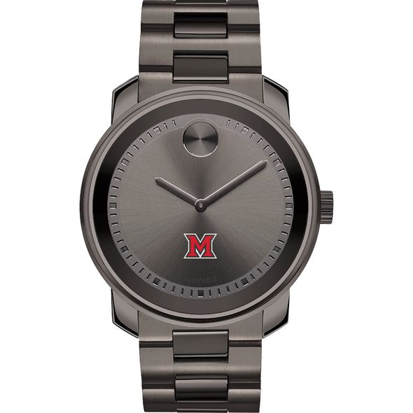 Miami University Men's Movado BOLD Gunmetal Grey - Image 2