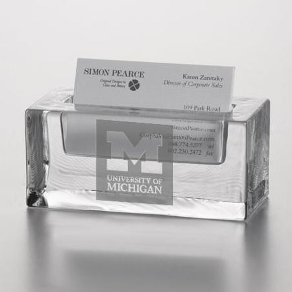 Michigan Glass Business Cardholder by Simon Pearce - Image 2