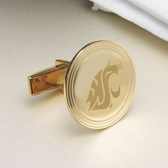 Washington State University 14K Gold Cufflinks - Image 2