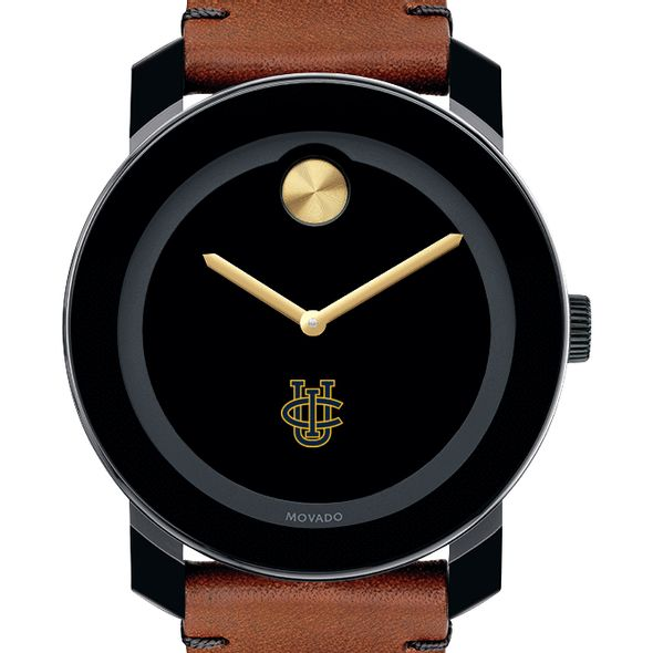 UC Irvine Men's Movado BOLD with Brown Leather Strap - Image 1