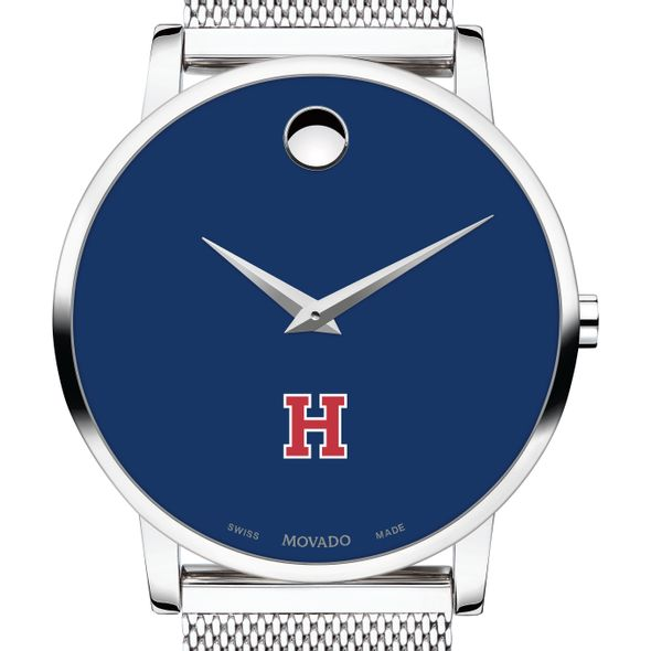 Harvard University Men's Movado Museum with Blue Dial & Mesh Bracelet