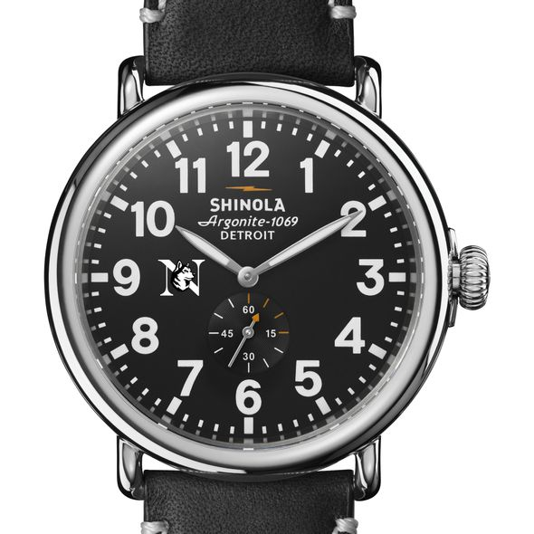 Northeastern Shinola Watch, The Runwell 47mm Black Dial - Image 1