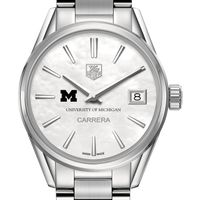 University of Michigan Women's TAG Heuer Steel Carrera with MOP Dial