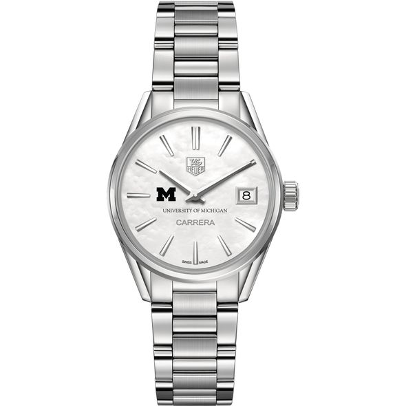 University of Michigan Women's TAG Heuer Steel Carrera with MOP Dial - Image 2