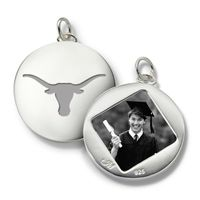 University of Texas Monica Rich Kosann Round Charm in Silver
