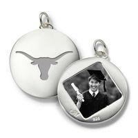 University of Texas Monica Rich Kosann Round Charm in Silver