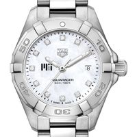 MIT Women's TAG Heuer Steel Aquaracer with MOP Diamond Dial