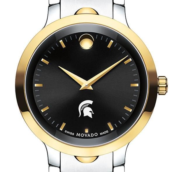 Michigan State University Men's Movado Luno Sport Two-Tone