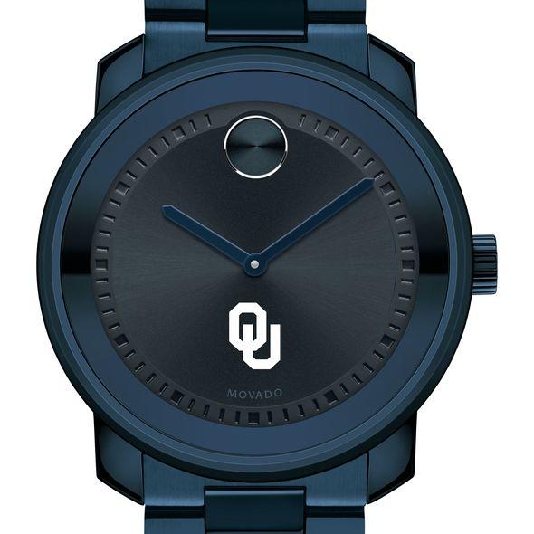 University of Oklahoma Men's Movado BOLD Blue Ion with Bracelet