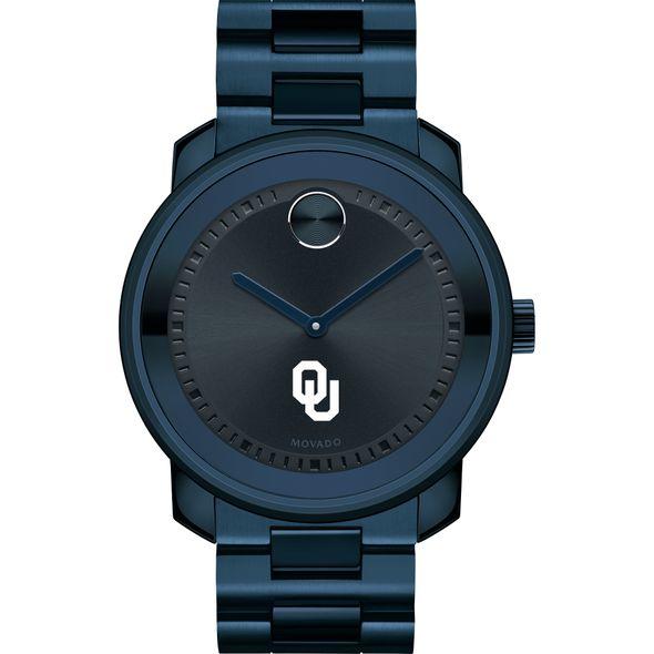 University of Oklahoma Men's Movado BOLD Blue Ion with Bracelet - Image 2