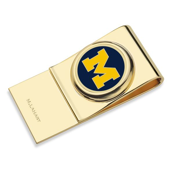University of Michigan Enamel Money Clip