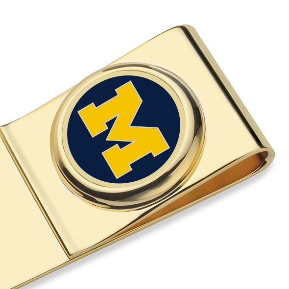 University of Michigan Enamel Money Clip - Image 2