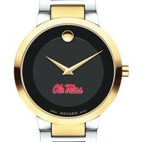 University of Mississippi Men's Movado Two-Tone Modern Classic Museum with Bracelet