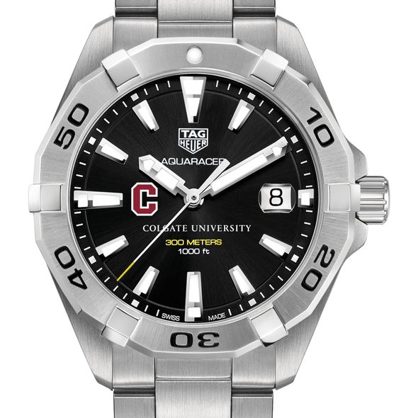 Colgate University Men's TAG Heuer Steel Aquaracer with Black Dial