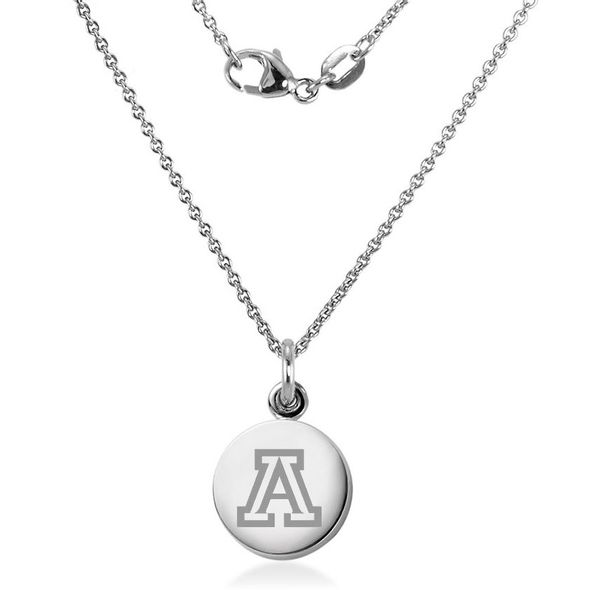 University of Arizona Necklace with Charm in Sterling Silver - Image 2