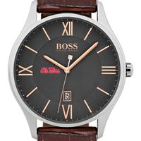 University of Mississippi Men's BOSS Classic with Leather Strap from M.LaHart