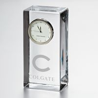 Colgate Tall Glass Desk Clock by Simon Pearce