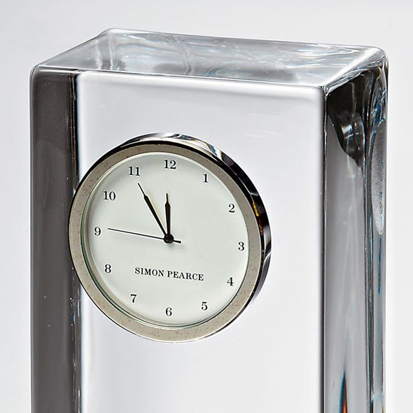 Colgate Tall Glass Desk Clock by Simon Pearce - Image 3