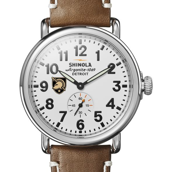 West Point Shinola Watch, The Runwell 41mm White Dial - Image 1