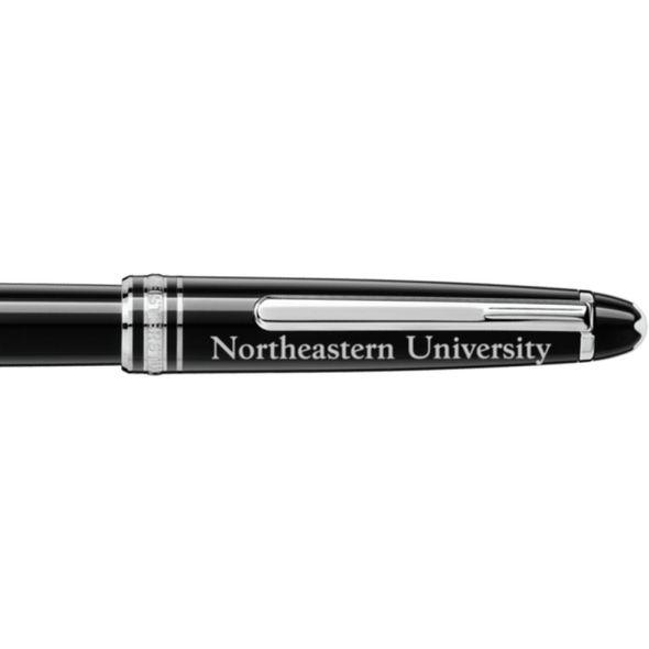 Northeastern Montblanc Meisterstück Classique Rollerball Pen in Platinum - Image 2