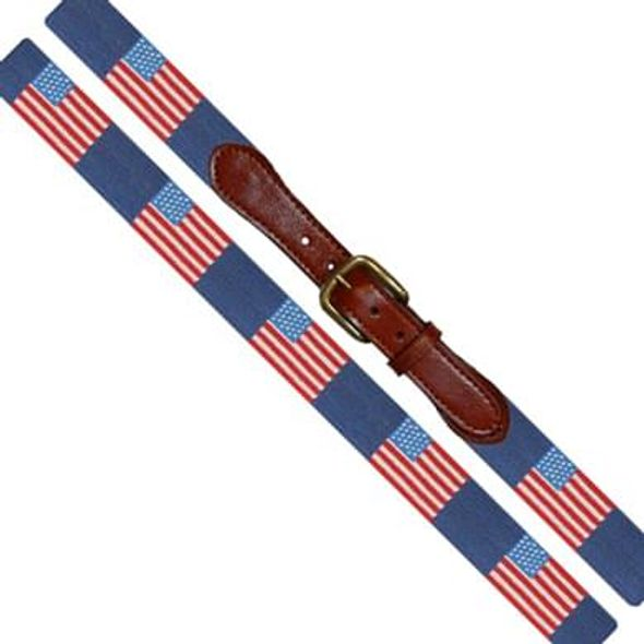 American Flag Needlepoint Belt - Image 1