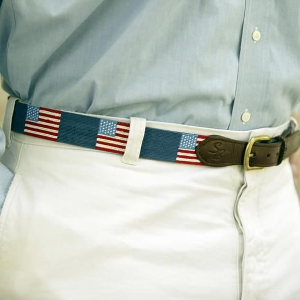 American Flag Needlepoint Belt - Image 2